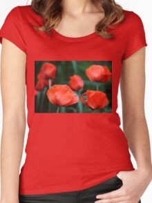 Where Poppies Grow Women's Fitted Scoop T-Shirt