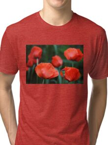 Where Poppies Grow Tri-blend T-Shirt