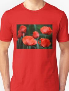 Where Poppies Grow Unisex T-Shirt