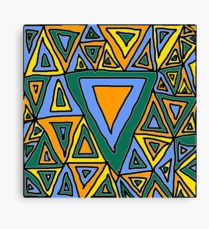 Litter Of Triangles Canvas Print