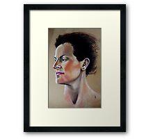 Rebecca - Pastel Framed Print