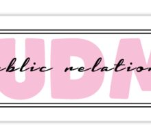 IUDM Public Relations Sticker