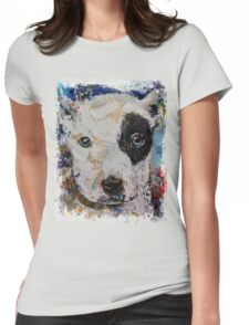 Pit Bull Puppy Womens Fitted T-Shirt