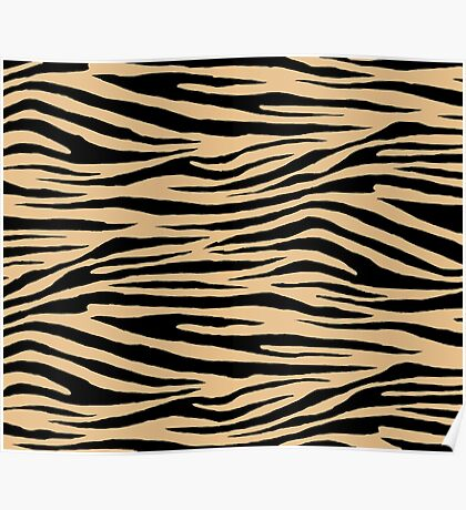0492 Pale Gold Tiger Poster