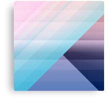 Modern Geometric Pink Blue Gradient Color Blocks Canvas Print