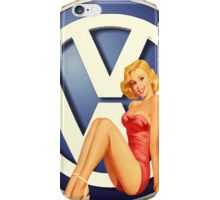 Retro VW Chick iPhone Case/Skin