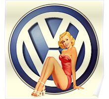 Retro VW Chick Poster