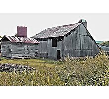"""Nostalgic Old Barn, the Back Side""... prints and products Photographic Print"