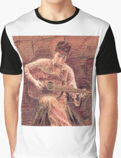 BOB DYLAN WITH GUITAR Graphic T-Shirt