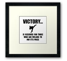 Victory Martial Arts Framed Print