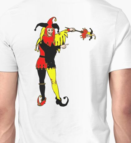 JOKER, Joke, Jokerman, Fool, cards, gamble, wild card, trump card for Euchre Unisex T-Shirt