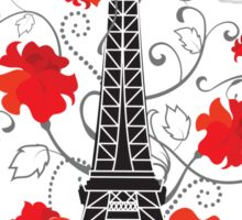 Paris Eiffel tower elegant stylish silhouette Sticker