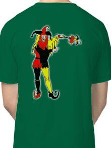 JOKER, Joke, Jokerman, Fool, cards, gamble, wild card, trump card, on BLACK Classic T-Shirt