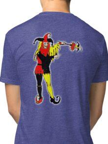 JOKER, Joke, Jokerman, Fool, cards, gamble, wild card, trump card, on BLACK Tri-blend T-Shirt