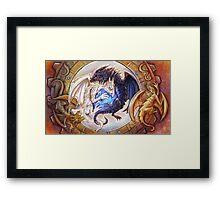 Gem Dragons Framed Print