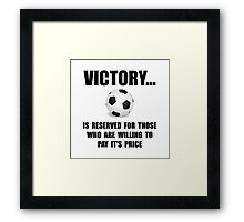 Victory Soccer Framed Print