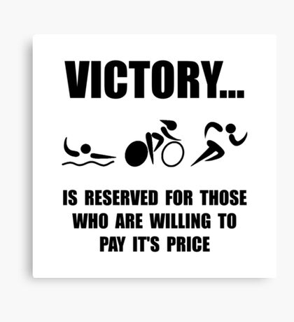 Victory Triathlon Canvas Print