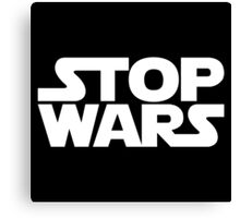 Stop Wars, Star Wars Logo Canvas Print