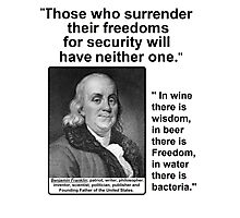 Ben Franklin Double Quote Photographic Print