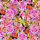 Tropical Tiger And Hibiscus Floral Print by daphsam
