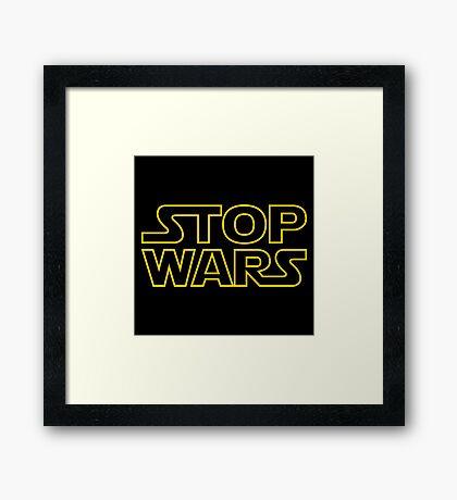 Stop Wars, Star Wars Logo Framed Print