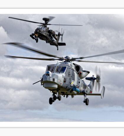 AgustaWestland AW159 Wildcat HMA2 & Apache AH1 Helicopters Sticker