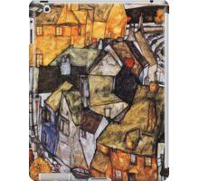 Egon Schiele Abstract Town iPad Case/Skin