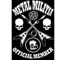 Metal Militia Photographic Print