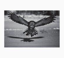 Great Grey Owl B&W Baby Tee