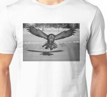 Great Grey Owl B&W Unisex T-Shirt