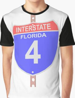 Interstate highway 4 road sign in Florida Graphic T-Shirt