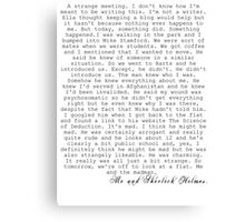 JOHNLOCK| John Writes About Meeting Sherlock Canvas Print