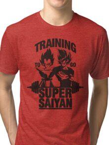 training to go super saiyan Tri-blend T-Shirt