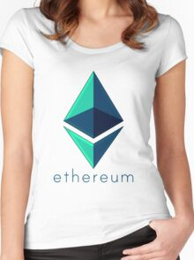 Ethereum metalic green  Women's Fitted Scoop T-Shirt