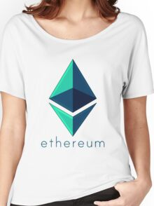 Ethereum metalic green  Women's Relaxed Fit T-Shirt