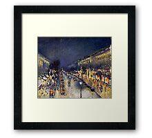 Camille Pissarro City at Night Framed Print