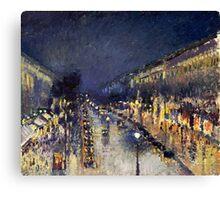 Camille Pissarro City at Night Canvas Print
