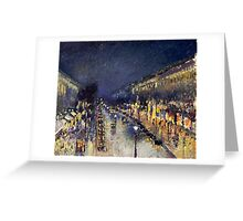 Camille Pissarro City at Night Greeting Card