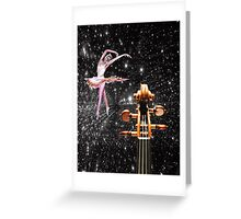 Violin and Ballet Dancer number 1 Greeting Card