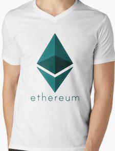 Ethereum emerald  Mens V-Neck T-Shirt