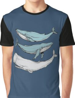 Three hand-drawn whales-friends Graphic T-Shirt