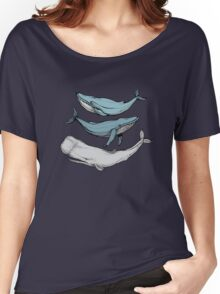 Three hand-drawn whales-friends Women's Relaxed Fit T-Shirt