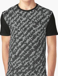 Modern Black White Popular Trendy Abstract Pattern Graphic T-Shirt