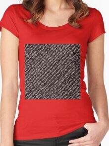 Modern Black White Popular Trendy Abstract Pattern Women's Fitted Scoop T-Shirt