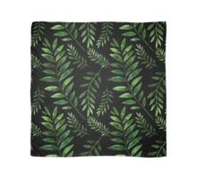 Watercolor Seamless pattern with green branches. Scarf