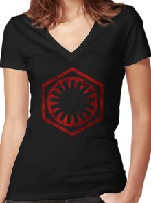 The First Order Symbol Women's Fitted V-Neck T-Shirt
