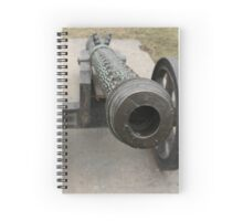 medieval bronze cannon front view Spiral Notebook