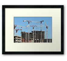 Construction skyscrapers  Framed Print