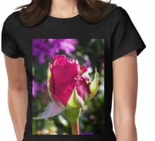 Rosebud 03 Womens Fitted T-Shirt