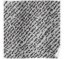 Modern White Black Popular Trendy Abstract Pattern Poster